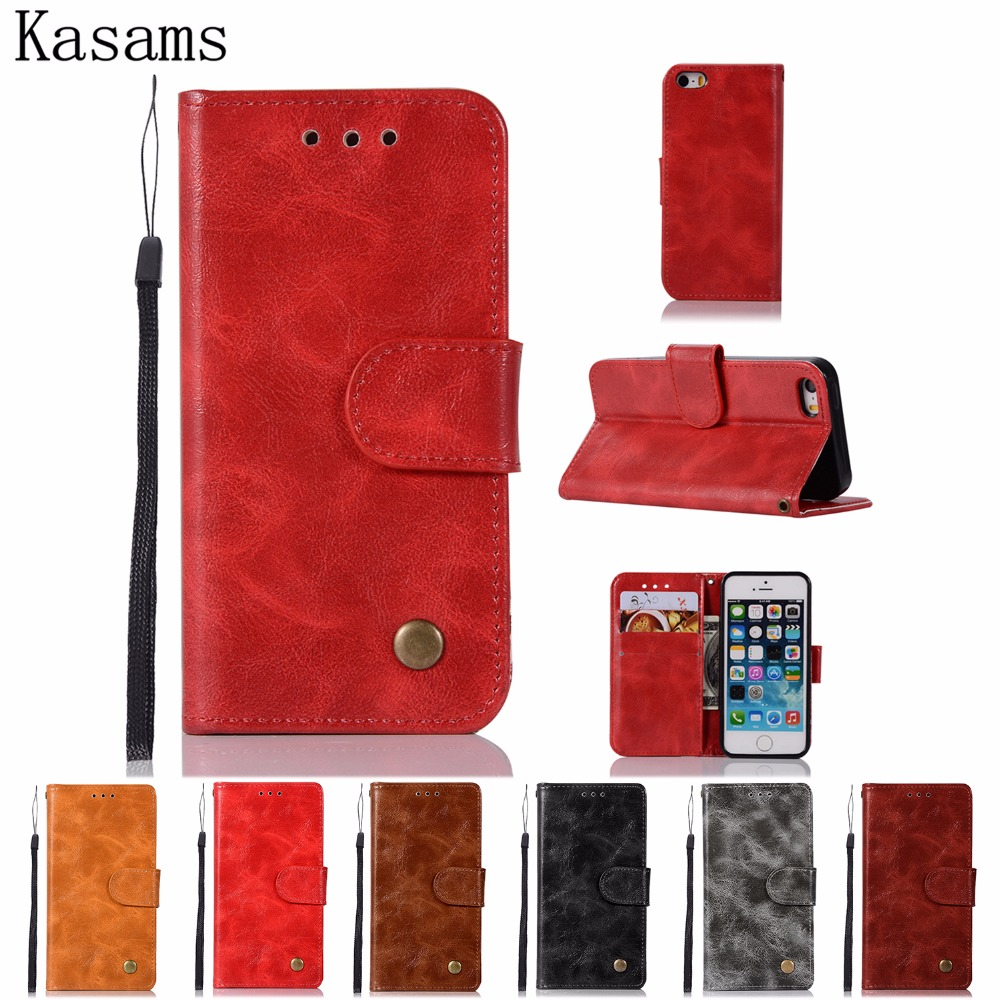 High-grade retro cases For Apple iPhone 5 5S SE iPhone5 5 S Leather Case Flip Cover Magnetic Wallet Stand Phone Shell Fundas Bag