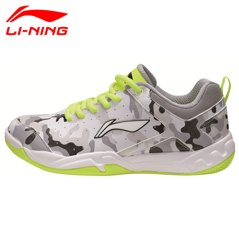 Li-Ning Kid's Badminton Shoes Breathable Lining Children Sneaker Anti-Slippery Sports Tennis Shoe Li Ning AYTM084 L741 original li ning men professional basketball shoes