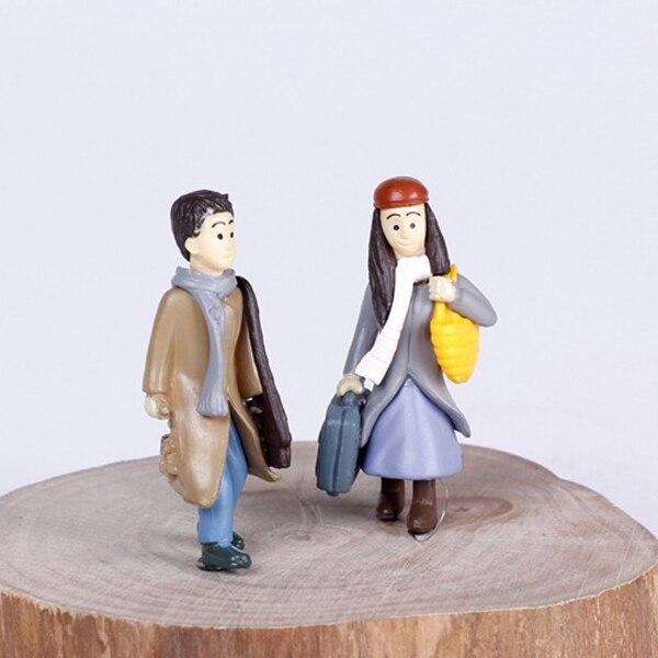Gnome Garden: 2pcs Wedding Couple Terrarium Figurines Fairy Garden
