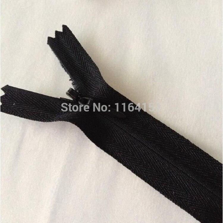 Длина 50 см нейлон невидимая молния для шитья подушки молния аксессуары для одежды 10 шт черный