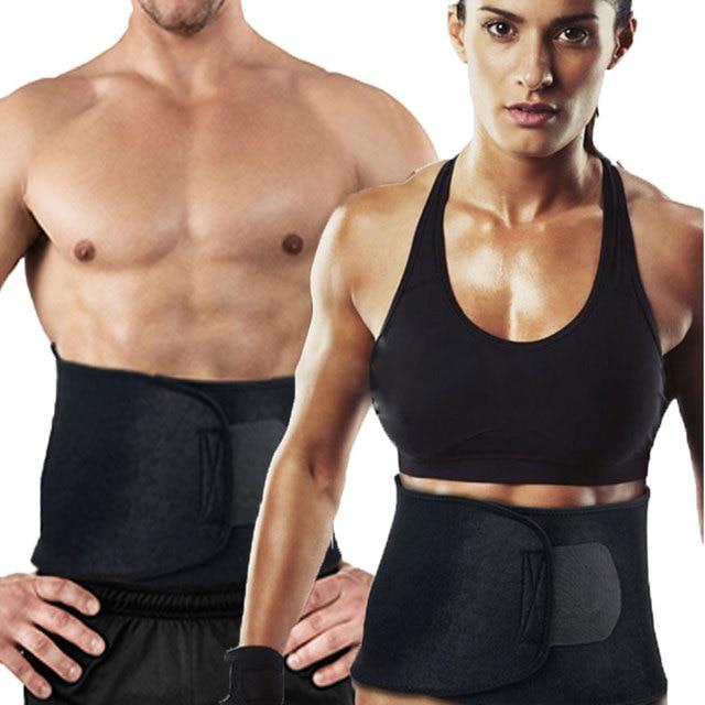 ae9bec1ba8 Hot Men Woman Adjustable Waist Tummy Trimmer Belt Shaper Slimming Exercise Fat  Burning Fitness Corset Modeling