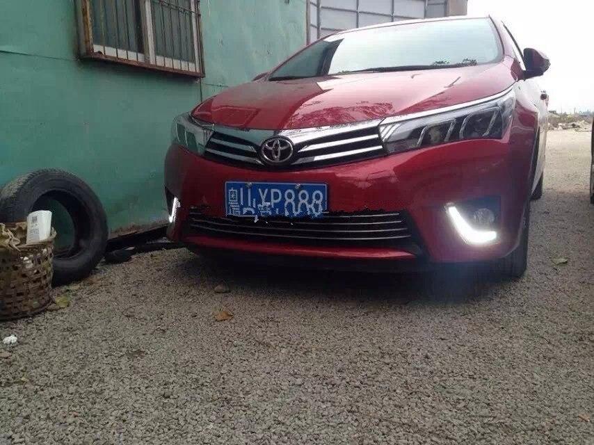 Для Toyota Corolla дневные ходовые огни, Corolla DRL, водонепроницаемый светодиодный противотуманные фары