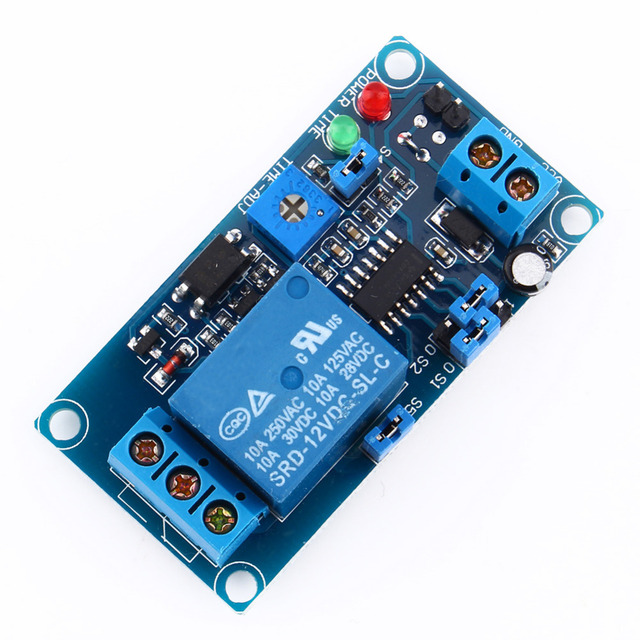 12V DC Delay Relay Delay Turn off Switch Module w/ Led Timer Electrical Equipment Relay w/ 8 Time Ranges