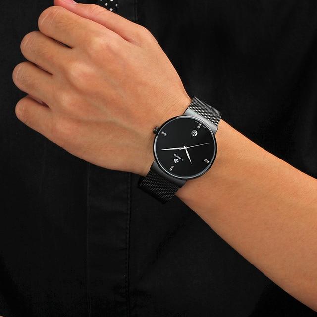 Waterproof Ultra Thin Dial Men's Watches 4