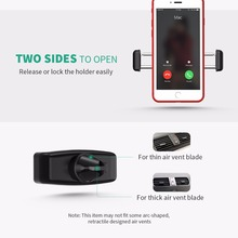 MCM14 Mpow Car Air Vent Mount Phone Holder Kickstand Portable 360 Rotation Car Mount Universal for iPhone X 8 7 6/6S 4-6 inch