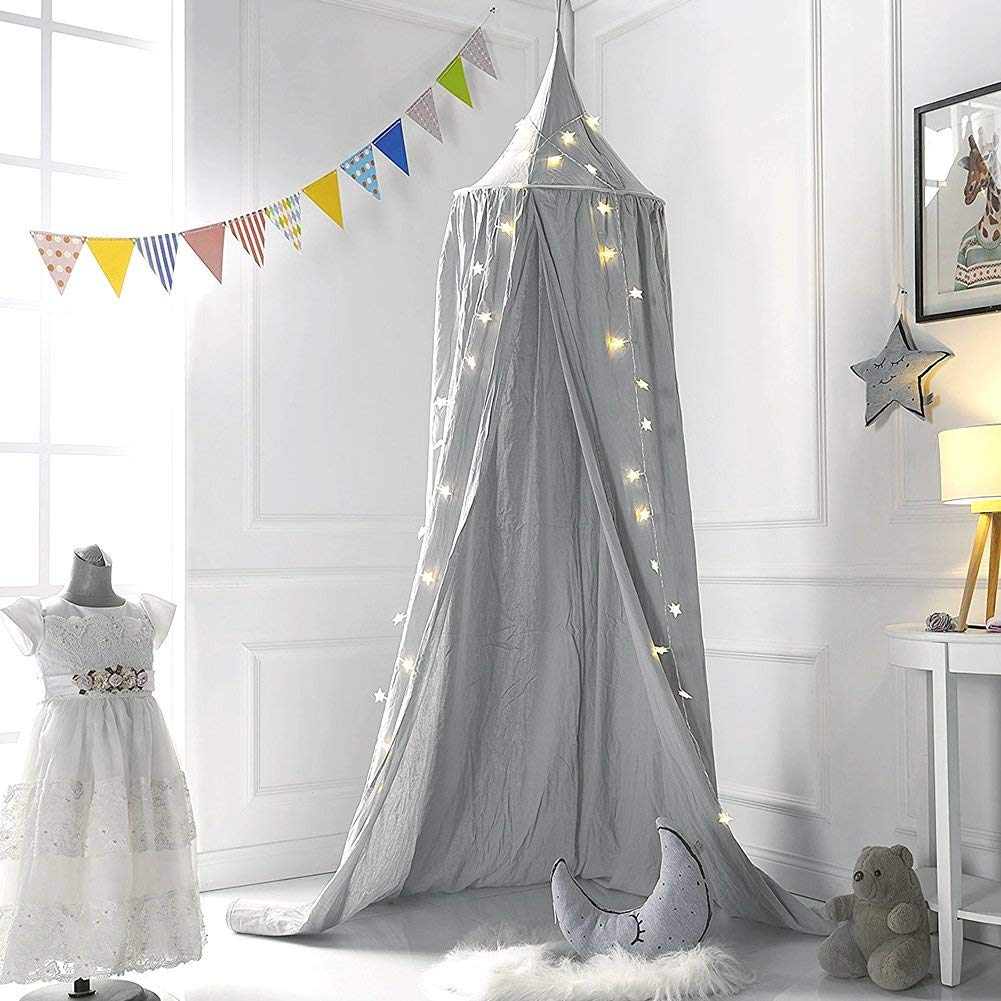 Baby Bed Mosquito Net Kids Bedding Decor Round Dome Hanging Bed Canopy Curtain Chlildren Baby Room Decoration Crib Netting Tent