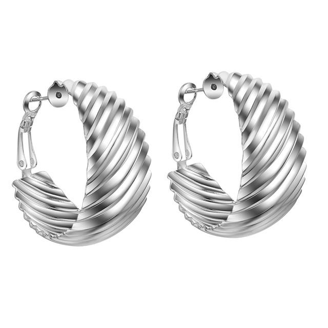 Ondulado moda de alta calidad de Pendientes de Plata para las mujeres pendientes de joyería de moda/DMZBMRXQ MKKIOXRN