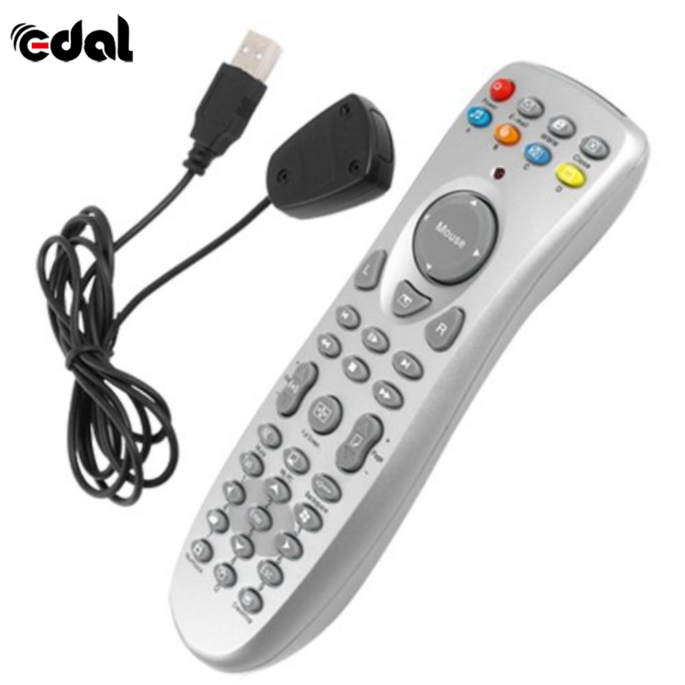 цена EDAL PC Remote Control Universal Infrared Remote Controller Digital Controller Media PC Computer Remote Controller and USB Cable