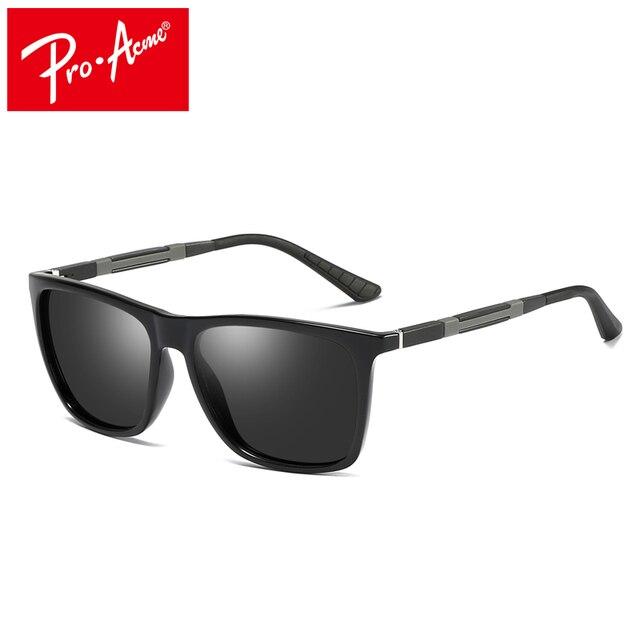 29a273d380c26 Pro Ápice dos homens Quadrados Óculos de Sol De Alumínio E Magnésio  Polarizada Óculos De Sol