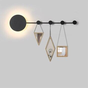 Moderna lámpara de pared de luz de la pared de dormitorio luz colgante decoración interior iluminación de diseño creativo soporte de suspensión