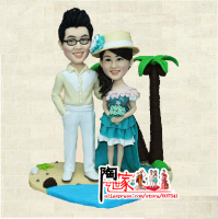 2014 Wedding Gift Green Drug Free Dolls Custom Figurine From Photo With Polymer Clay Unlike No