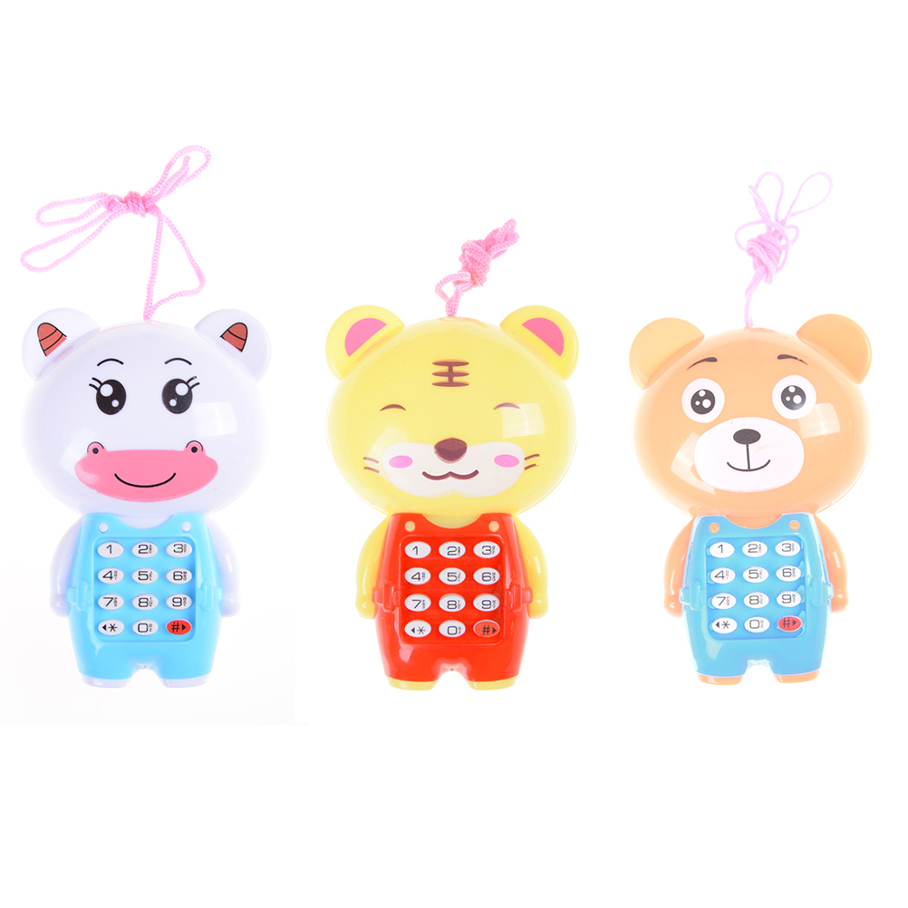 1PCS Cartoon Baby Music Phone Toys Educational Learning Toy Phone Gift For Kids Children's Toys Random Color