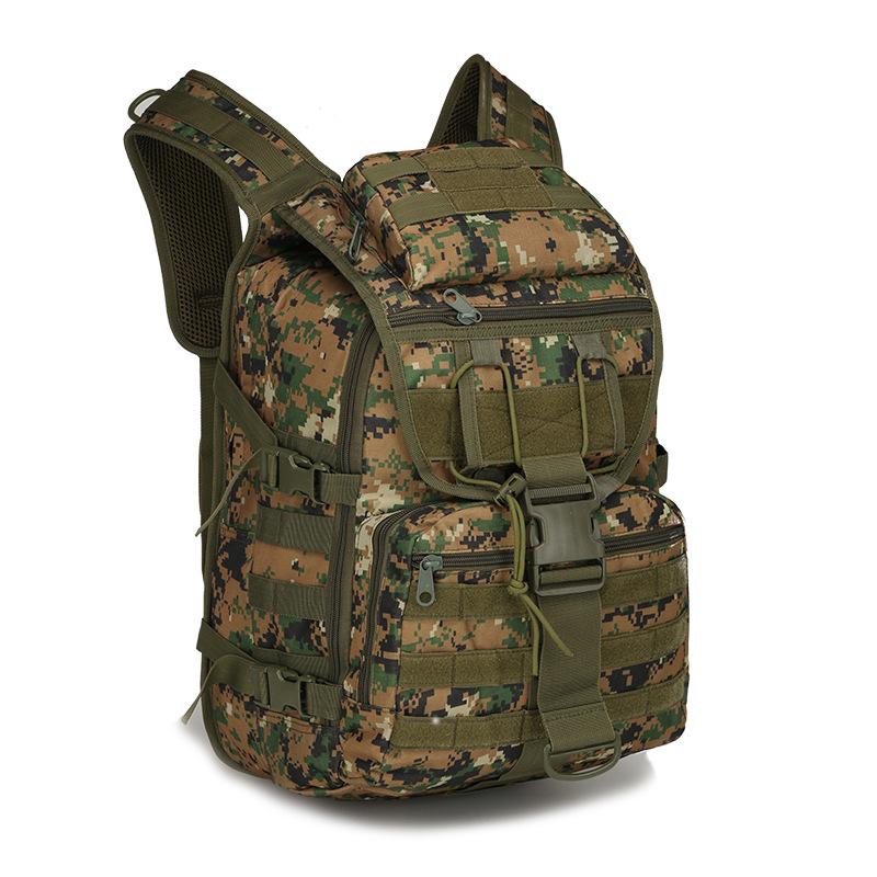 ФОТО 40L Men Waterproof Nylon Laptop  Backpack Molle Military 3P Tad Backpack Women Big Assault Travel Bag Packsack X69