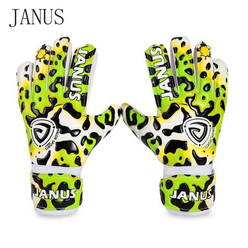 Janus New Style Kids Finger Protection Soccer Gloves Professional Children Soccer Football Goalkeeper
