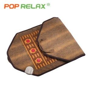 POP RELAX massage mat health mattress photon light thermotherapy tourmaline maifan pain relief electric heating stone mattress