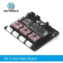 GKTOOLS, мана 3 оси шагового двигателя контроллер драйвер платы для DIY Лазерный Гравер поддержка Benbox, GRBL