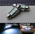Frete grátis, 2x Super bright LED Canbus sem erro License Plate luz para VW Golf 3 4 5 6 Passat 3c B6 B5 Polo