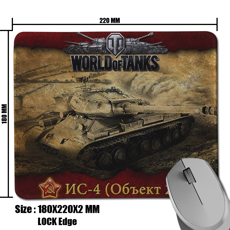 2017 Hot Sell Custom World of Tanks NC 4 Picture Comfort Non Slip Rectangle Pad for