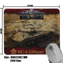 2017 Hot Sell Custom World of Tanks NC-4 Picture Comfort Non-Slip Rectangle Pad for Optical Gamer Slide Mouse Mat