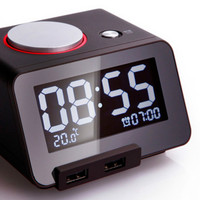 Alarm Clock with A Charging Port Electronic Temperature 3.2 Inch LCD ClockS Display Time Electric C1 Bedside Clock