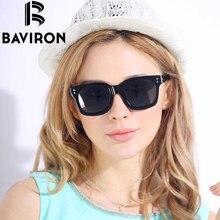 BAVIRON Brand Mirror Sunglasses Women TR90 Frame Sun Glasses HD Polaroid Lens Square Retro Classic Unisex glasses Designer 2003
