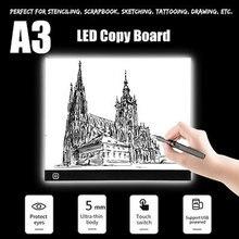 A3 Мини светодиодный световой Рисунок Трассировка индикаторная копировальная панель трехуровневая затемнения планшетный компьютер защита глаз альбом для рисования