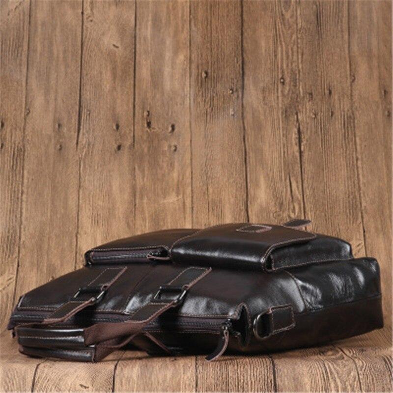 Offizielle Tasche Brown Wachs Aus M932 Laptop Schicht Leder Erste Männer Freizeit Herren Alavchnv Schulter tasche Öl B1wYOqZ