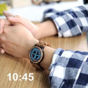 Image 2 - BOBO BIRD Wood Digital Watch Men erkek kol saati Night Vision Wooden Watches LED Time Display relogio masculino in Wood Gift Box