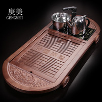 Geng Meike tea tea Kung Fu tea large electromagnetic oven four in one tray wood factory wholesale