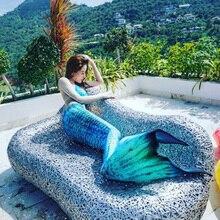 Hot Mujeres Niñas Cola de Sirena y Monoaleta Playa Vacaciones de Verano Cola de Fotos Apoyos Cosplay Traje de Bikini