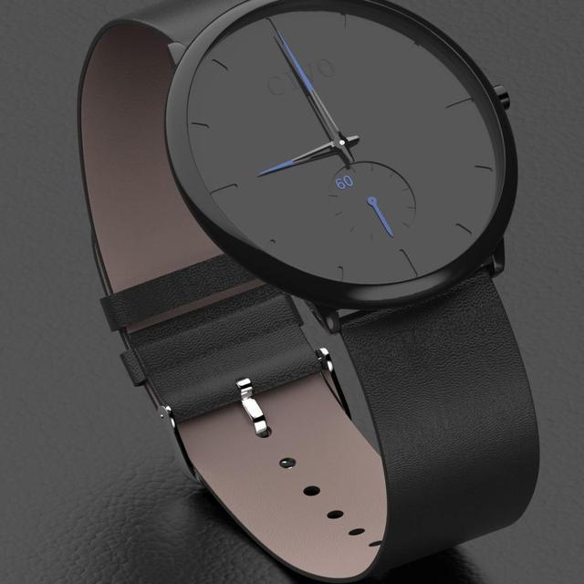 CIVO 2019 nueva moda para hombre reloj de deporte de los hombres relojes de cuarzo reloj impermeable minimalismo de cuero genuino correa de reloj de pulsera Relojes