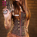 Corzzet agent provocateur classic brown gothic espartilhos bustier sexy overbust deshuesado acero steampunk corsé korsett