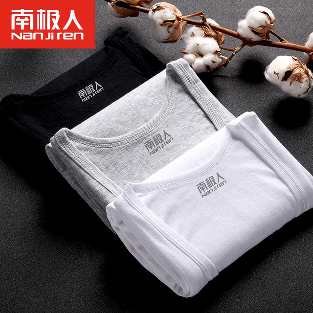 3PCS Men's Undershirt Bottoming Clothing Cotton Men Casual Sleeveless Tank Vest Slim Solid Male Undershirt Top Underwear Men