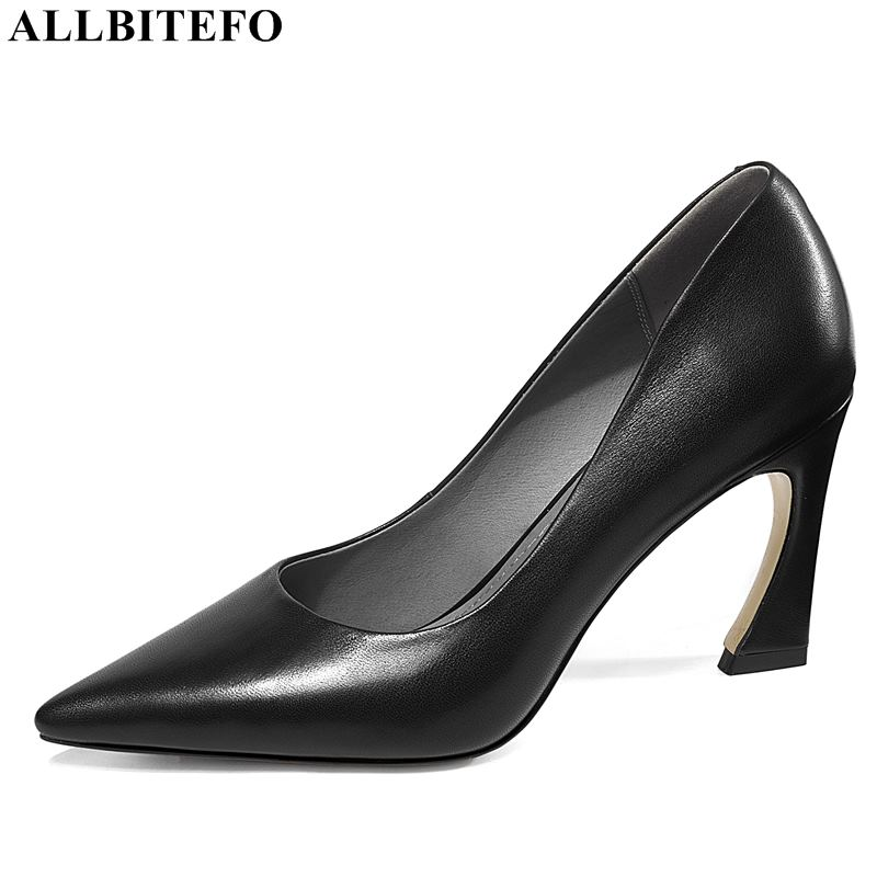 ALLBITEFO sexy high heels women shoes genuine leather women high heel shoes spring office ladies shoes women heels size:33-43ALLBITEFO sexy high heels women shoes genuine leather women high heel shoes spring office ladies shoes women heels size:33-43