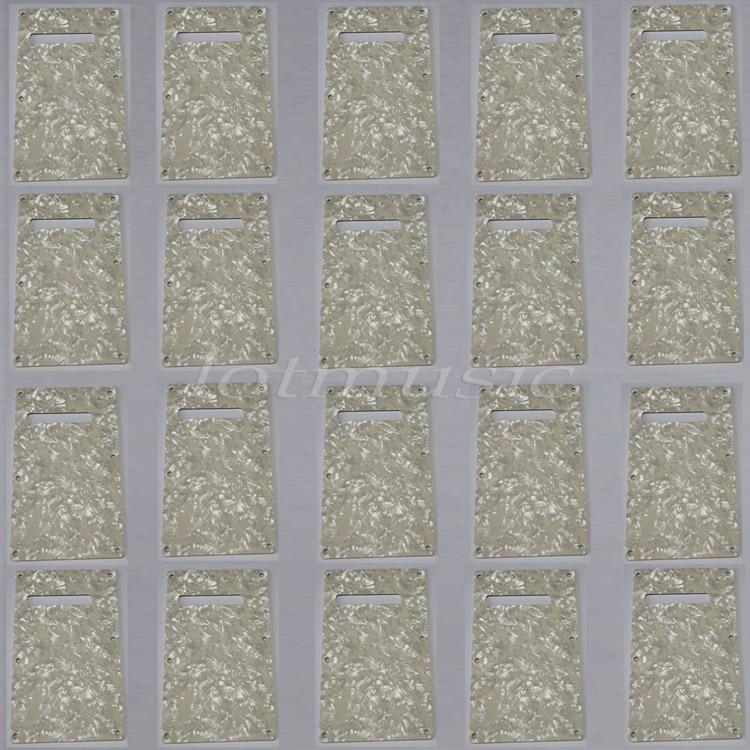 20 pièces 3ply Pearloid Trem couverture plaque arrière pour garde-boue Strat guitare remplacement