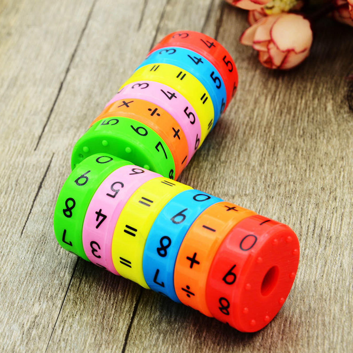 Kids Colorful Magnetic Math Cube Toy Mathematics Arithmetic Math Puzzle Cube Add Subtract Multiply Divide Education Learning Toy