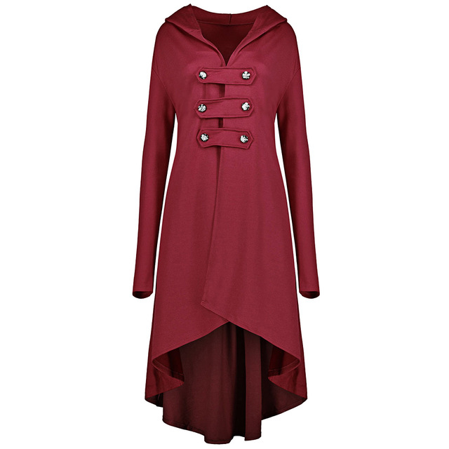Plus Size 5XL Women Long Trench Coats Double Breast High Low Hem ...