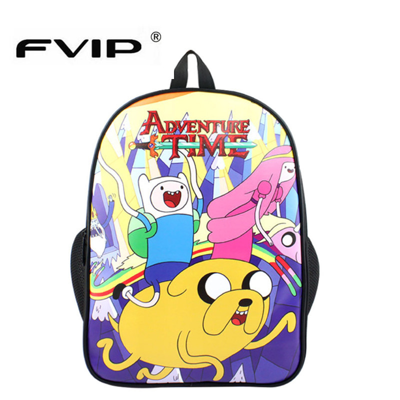 Fvip Adventure Time Women Men Travel Bag Casual Backpack Printing School Bag For Teenagers Cartoon Backpacks Bag Mochila Galaxia