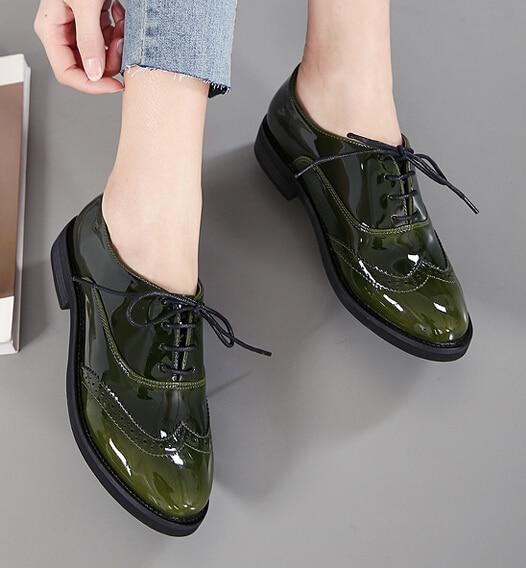 dcc2599cc3e3a Mujeres de la Plataforma Pisos 2017 Otoño Alta Calidad Oxfords Charol  Creepers Casual Zapatos Oxford Mujer