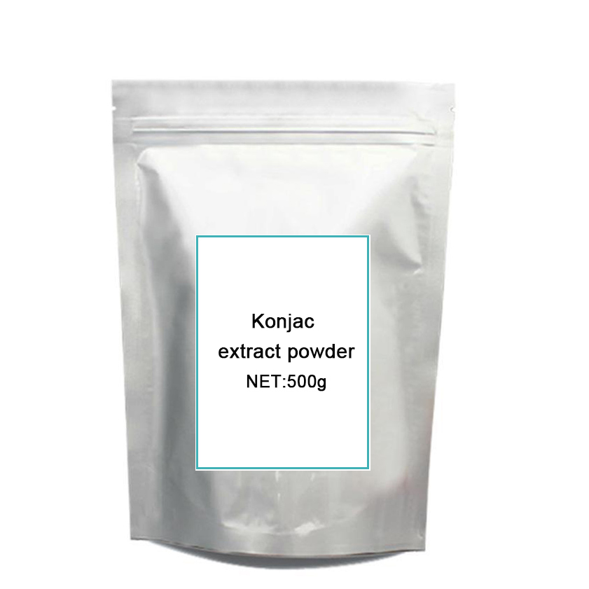 цена на 500G GMP certified 100% Natural Konjac extract pow-der,Glucomannan Konjac extract Weight Loss Fat Burner Hot sale Free Shipping