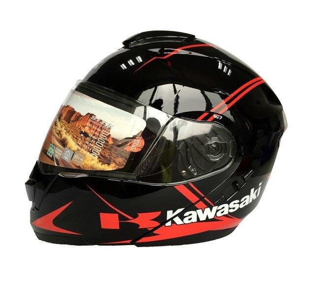 Double Lens Motorcycle Full Face Helmet Modular Capacete Casco Casque