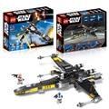 465 Шт. Звездные войны The Force Пробуждает Poe X-Wing Fighter Модель Строительство Комплект Блоки Кирпичи Совместимость Legoede лепин Игрушки