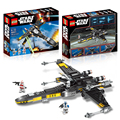 465Pcs Star Wars The Force Awakens Poe's X-Wing Fighter Model Building Kit Blocks Bricks Compatible Legoede Lepin Toys