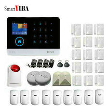 SmartYIBA APP Control WIFI GSM Alarm System Touch Keyboard Fire Smoke Sensor For House Office Intruder