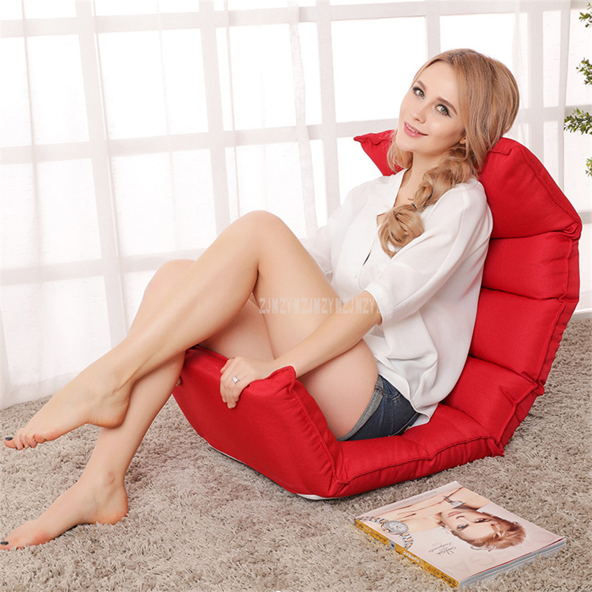 Floor Foldable Modern Chaise Lounge Chair Living Room Furniture Japanese Style Indoor Reclining Lounger Single Sofa Sleeper Bed