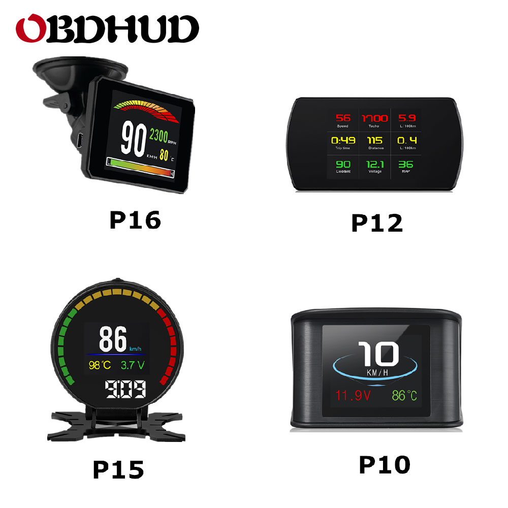 OBDHUD New Auto Diagnostic Tools OBD2 Car Trip On board Computer Speedometer Display Water Temperature RPM Gauge-in Head-up Display from Automobiles & Motorcycles