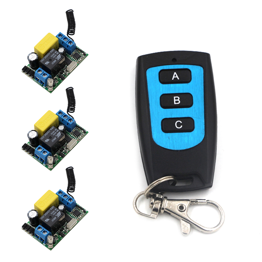 Innovative Products Best Quality RF Wireless Remote Control AC 220 V 1 Channel 3 Receivers + 1 Transmitter Waterproof 315/433