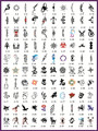 Template tattoo golden phoenix NO.02 airbrush tattoo stencils 100pcs comprehensive series theme picture