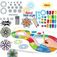 Spirograph Tekening speelgoed set 22/30 PCS Accessoires met 3 pennen  creatieve Spiraal Ontwerpen Schilderen Leren Educatief speelgoed voor kinderen|learning education|spirograph setkids painting set -