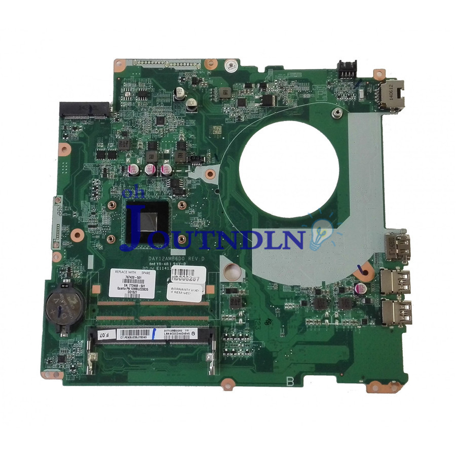 JOUTNDLN FOR HP Pavilion 17-F Laptop Motherboard DAY12AMB6D0 767420-001 767420-501 767420-601 DDR3 W/ N2830 CPU